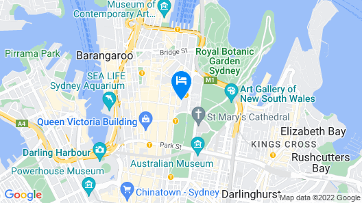 Travelodge Hotel Sydney Martin Place Map