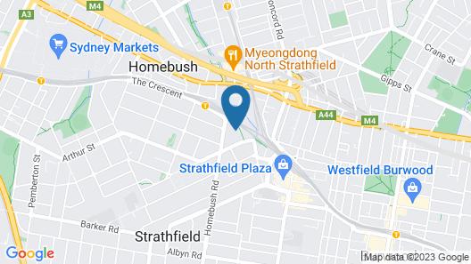 Comfy & Convenient Homebush West Map