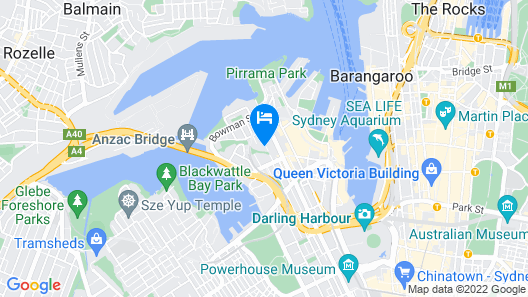 Terrace Home - Sydney Entertainment and Business at the Doorstep - Free Parking Map