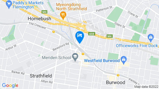 Strathfield Executive Accommodation Map