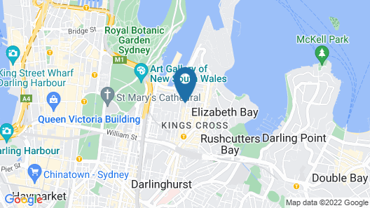 Spacious One Bedder in Potts Point Map