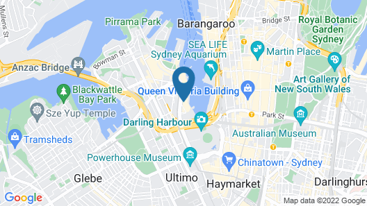 Sofitel Sydney Darling Harbour Map