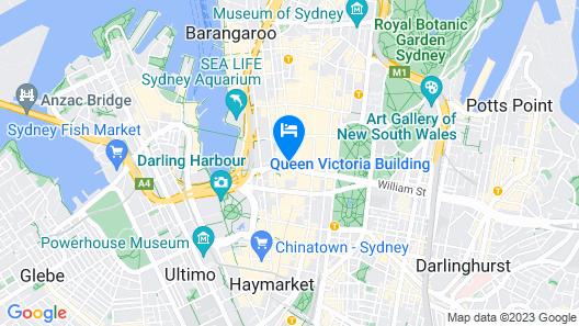 Sydney Hotel QVB Map