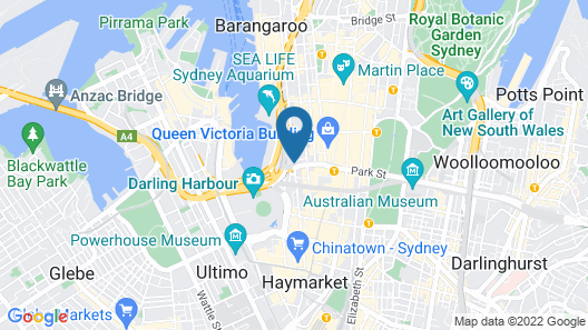 Sydney Hotel Harbour Suite Map