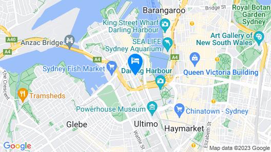 Woolbrokers Hotel Darling Harbour Map