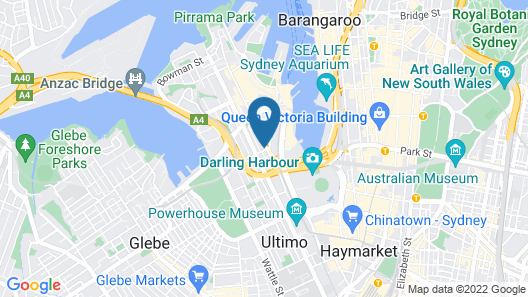 Woolbrokers Hotel Darling Harbour Map