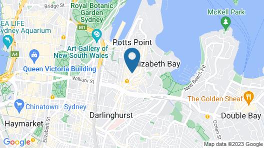 Sydney Potts Point Central Apartment Hotel Map