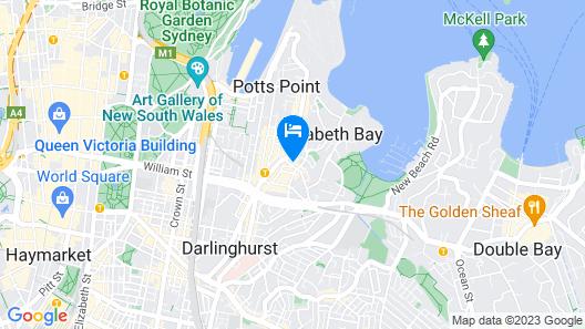 UNO Hotel Sydney  Map