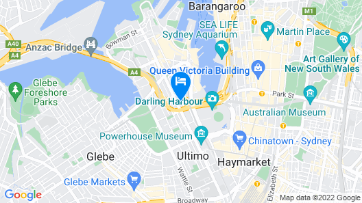 Darling Harbour Modern 1 Bedroom Apartment Map