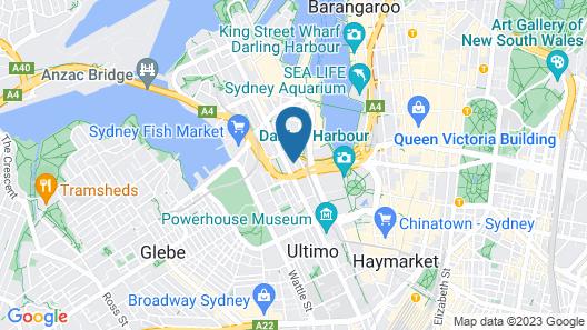Darling Harbour Spacious Apartment Map