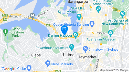 Darling Harbour Spacious Apartment Map