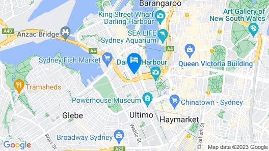 Darling Harbour Cozy 1 Bedroom Apartment Map