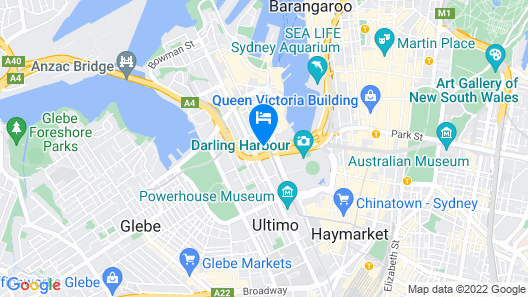 Oaks Sydney Goldsbrough Suites Map
