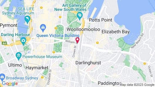 The Sydney Boulevard Hotel Map