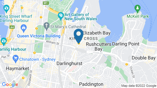 Modern Potts Point Apartment in Omnia Map