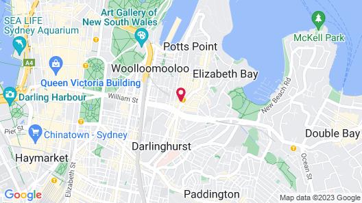 Holiday Inn Potts Point Sydney, an IHG Hotel Map