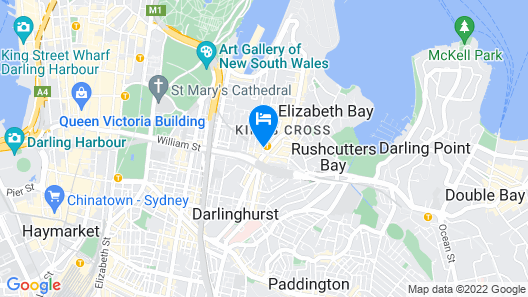 Holiday Inn Potts Point Sydney Map