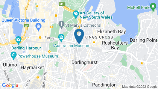 Nate's Place Backpackers Sydney Map