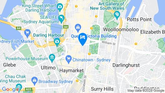 Primus Hotel Sydney Map