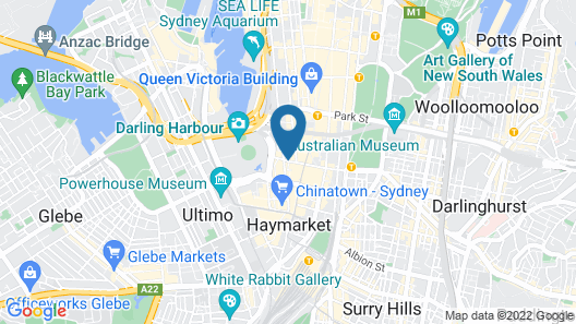 Radisson Hotel & Suites Sydney Map