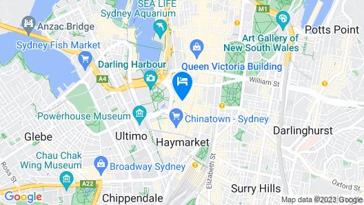 Radisson Hotel & Suites Sydney Map