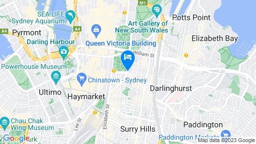 Oaks Sydney Hyde Park Suites Map