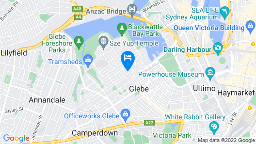 Best Western Haven Glebe Map