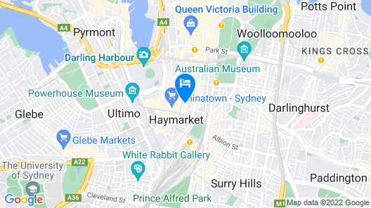 Meriton Suites Campbell Street, Sydney Map