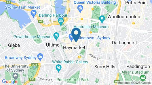 Mantra Sydney Central Map