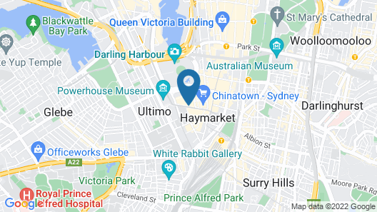 Modern Apartment in Darling Harbour Map