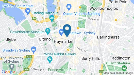 Capitol Square Hotel Sydney Map