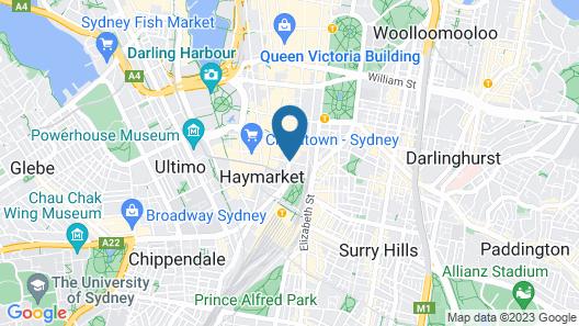 Metro Hotel Marlow Sydney Central Map