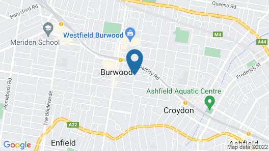 Burwood Bed And Breakfast Map