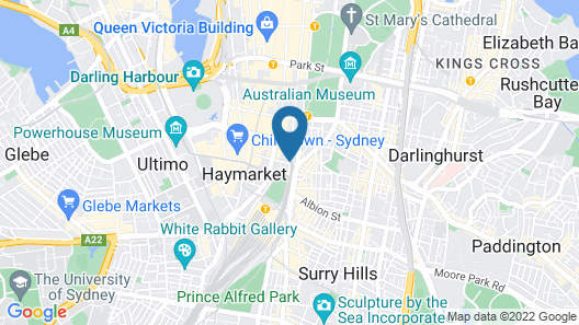 Oaks Sydney Castlereagh Suites Map