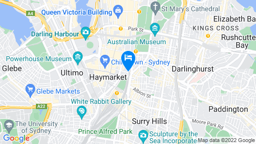 Oaks Sydney Castlereagh Suites Map