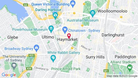 Space Q Capsule Hotel Map