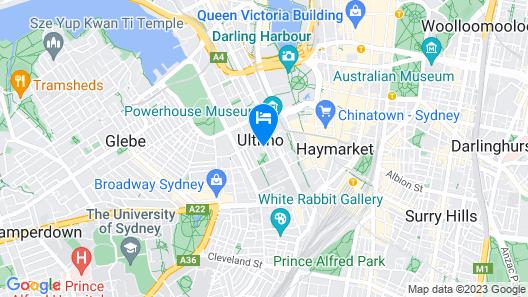 Metro Aspire Hotel, Sydney Map