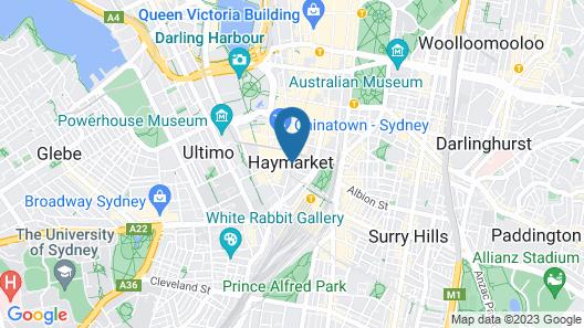 Sydney City Hostel Map