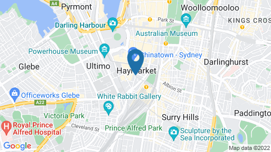 Great Southern Hotel Sydney Map