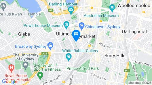 Novotel Sydney Central Map