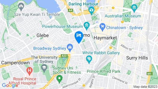 Vulcan Hotel Sydney Map