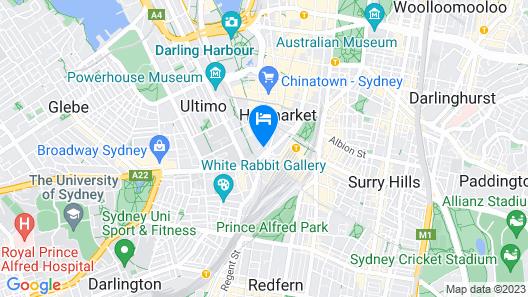 Naumi Studio Hotel Sydney Map