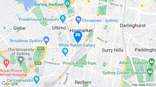 Adina Apartment Hotel Sydney Central Map