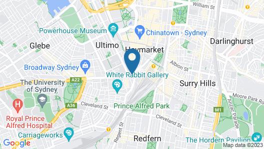 Mercure Sydney Map