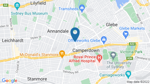 Camperdown Furnished Apartments Map