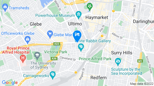 Four Points By Sheraton Sydney, Central Park  Map