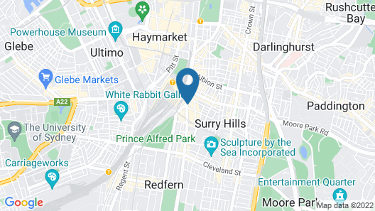 Central Private Hotel Map