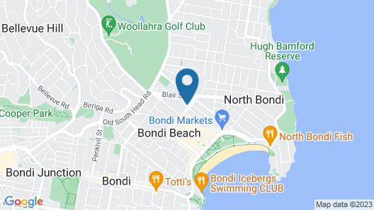 Beach Road Hotel Bondi Beach Map