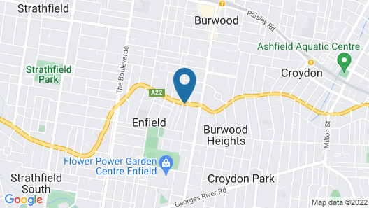 Comfort Inn & Suites Burwood Map