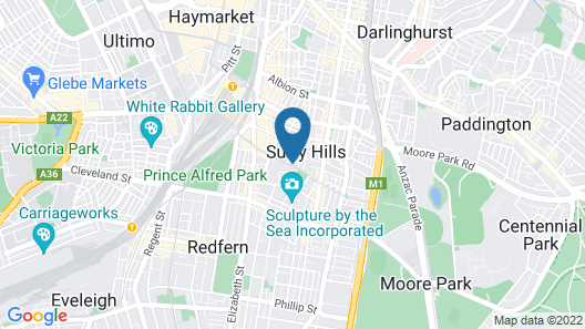 Shakespeare Hotel Surry Hills Map